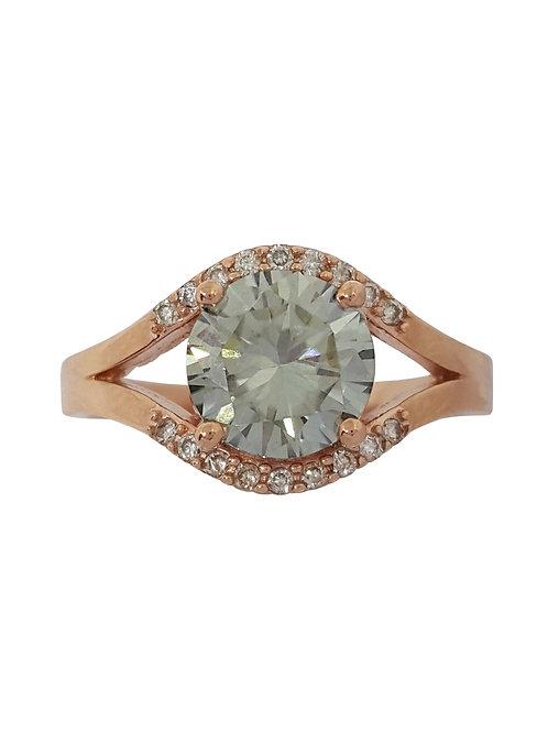 *CD DESIGNER* 1.795ct Moissanite and Diamond Ring in 9ct Rose Gold