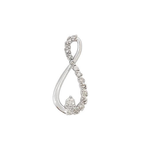 0.20ctw Diamond Infinity Pendant in 10K White Gold