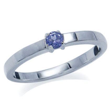 0.1ct Natural Tanzanite Ring
