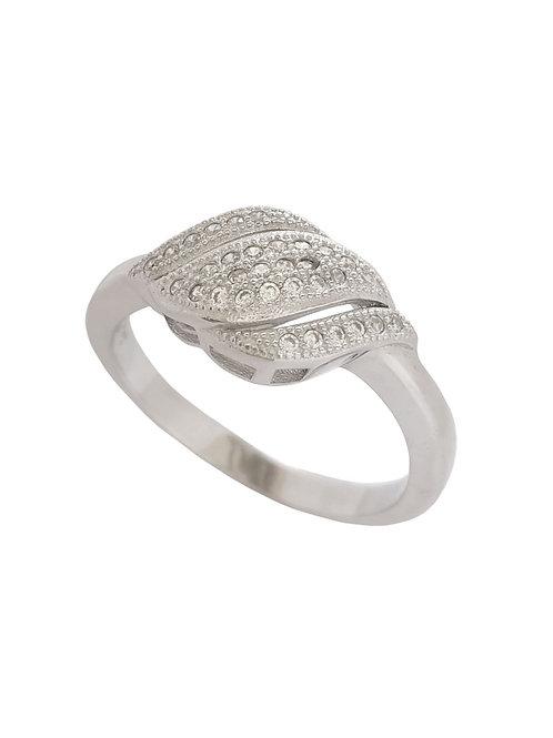 Petite Petal Design Ring in Sterling Silver