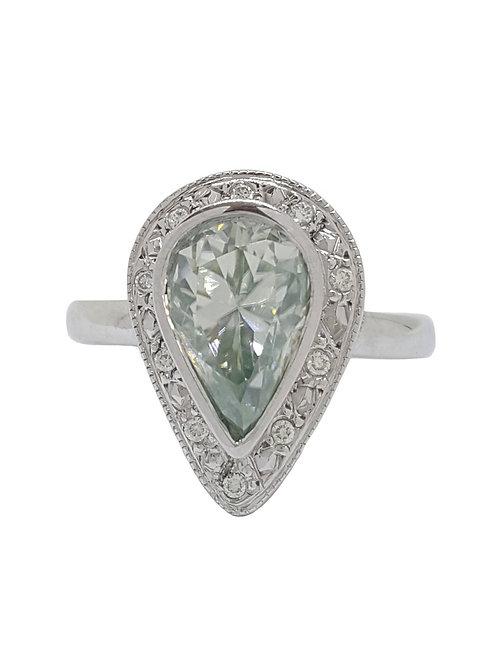 *CD DESIGNER* 2.525ct Moissanite Ring in 9K White Gold