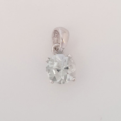 1.01 ct Natural Topaz Pendant in 925 Sterling Silver