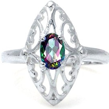 0.54ct Mystic Topaz 925 Sterling Silver