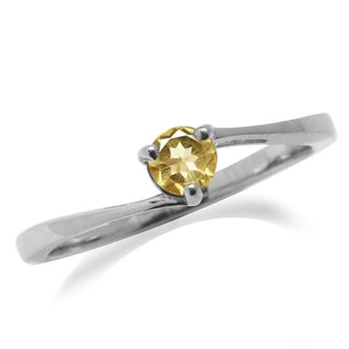 0.22ctw Natural Citrine Ring in 925 Sterling Silver