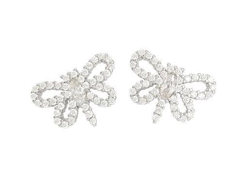 0.20ctw Clear CZ Firefly Earrings in 925 Sterling Silver