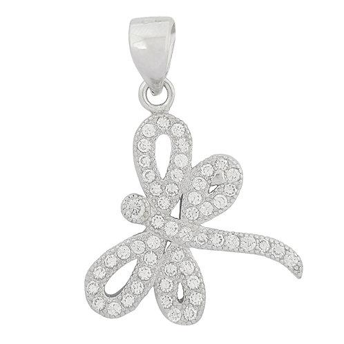 CZ Firefly Pendant in 925 Sterling Silver
