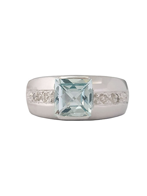 *CD DESIGNER* 1.61ctw Natural Topaz and CZ Ring in Sterling