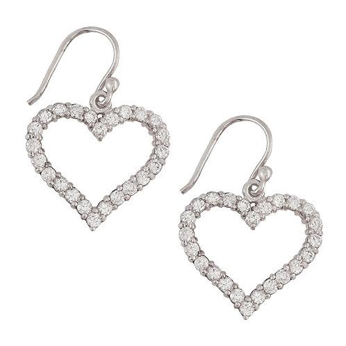 Heart Shaped Earrings in 925 Sterling Silver