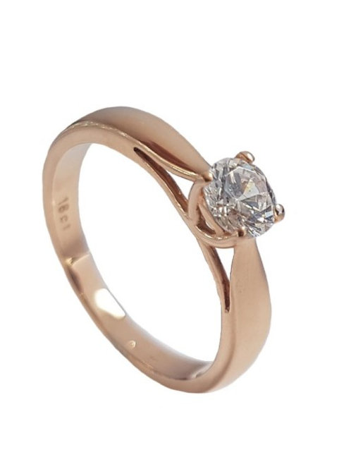 0.50ct Solitaire Ring in 18ct Rose Gold- Size 6.5