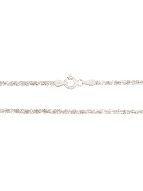 45cm 925 Sterling Silver Daisy cut Style Chain
