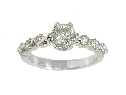 *CD DESIGNER* 0.851ct Moissanite and Diamond Ring