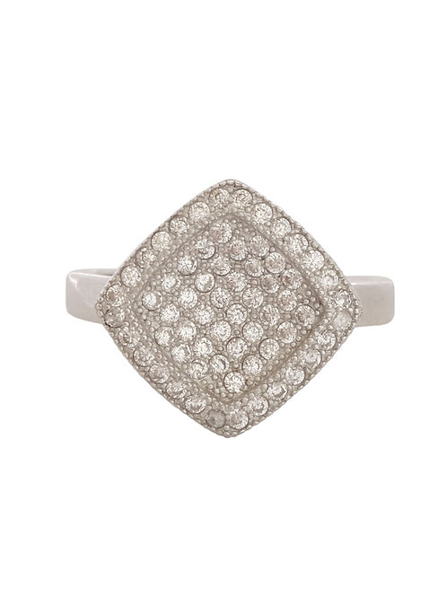 CZ Cluster Style Ring in Sterling Silver