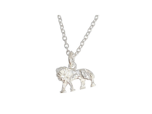 Lion Charm in 925 Sterling Silver