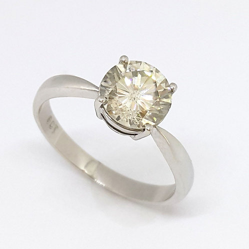 *CD DESIGNER* 1.646ct Moissanite Solitaire Ring in 9K White Gold