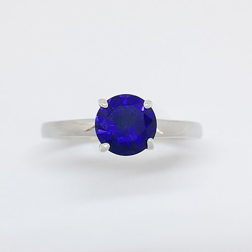Sapphire Ring in 925 Sterling Silver