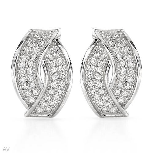 0.67ctw CZ Studs in 925 Sterling Silver