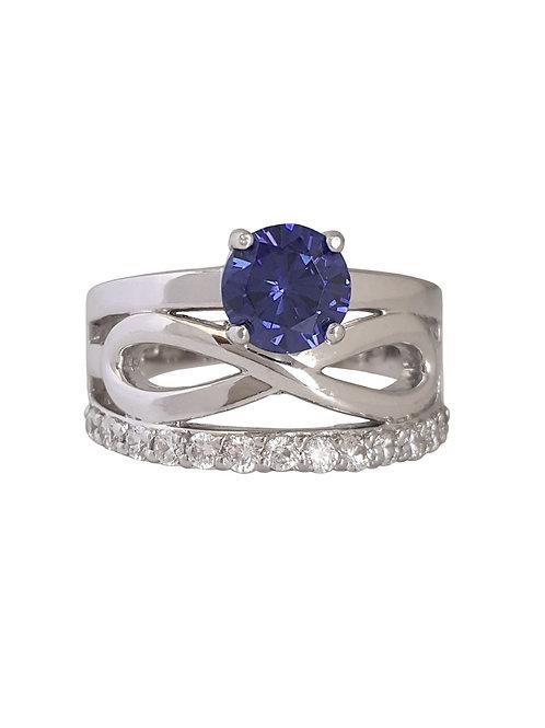 *CD DESIGNER* 1.64ctw CZ Tanzanite Infinity Style Ring