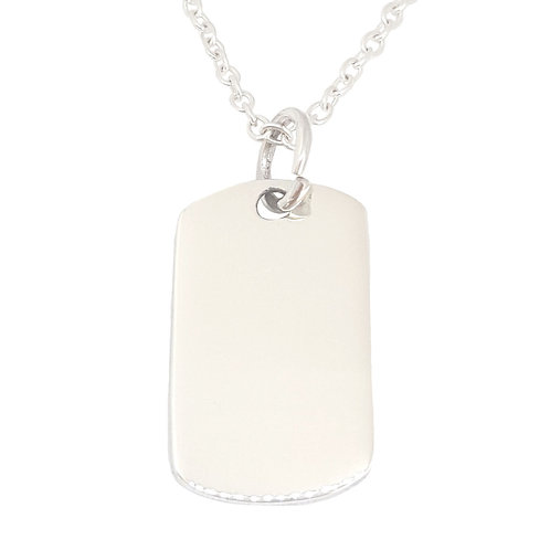 Plain Dog Tag Disk Style Pendant in 925 Sterling Silver