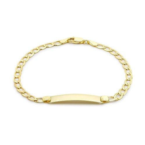 9ct Yellow Gold 19cm ID Bracelet