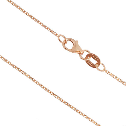 9ct Rose Gold 45cm Anchor Chain
