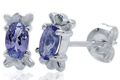 0.40ctw Natural Iolite Stud Earrings