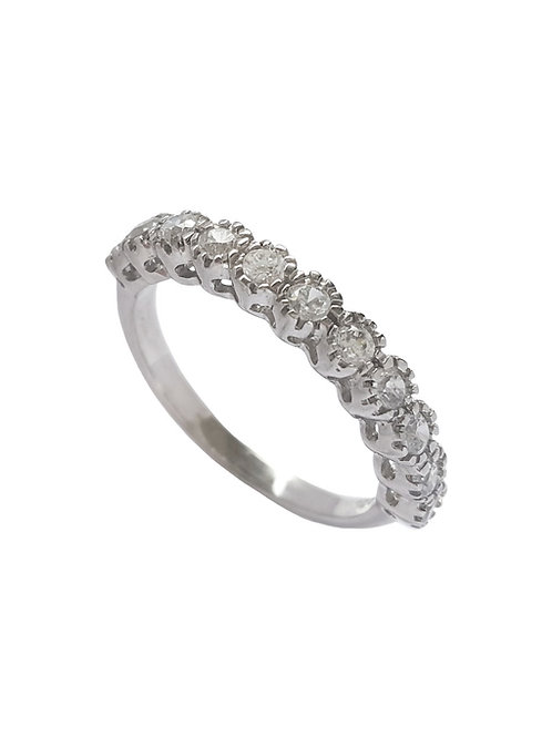 0.55ctw CZ Half Eternity Band in 925 Sterling Silver