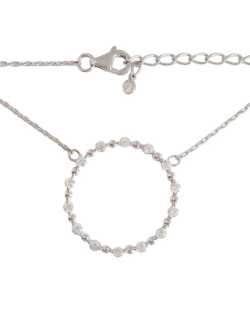 Circle of life Necklace in Sterling Silver