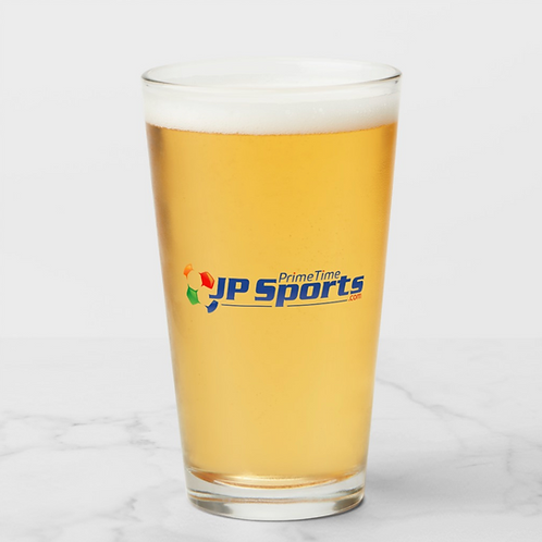 Prime Time JP Sports Soccer Ball Pint Glass