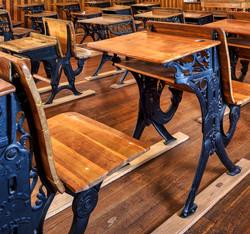 Antique Desks inside Old Schoolhouse