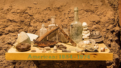Archeology Artifacts Exhibit Excacation 1974 Tubac
