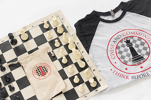 Chess Set, Bag, Shirt