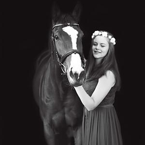 Anneke and her horses - Ruby & Magic