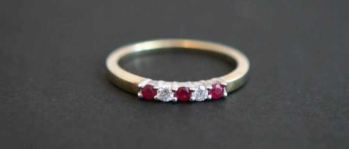 Diamond & Ruby Eternity Ring