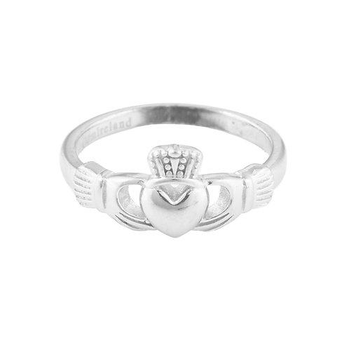 Ladies Silver Claddagh Ring