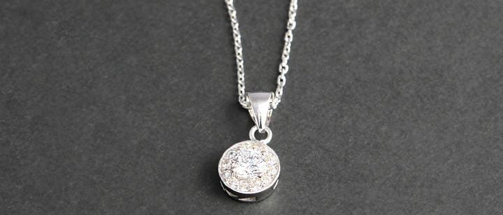 Silver stoneset Pendant