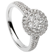 HER19 Halo Engagement Ring