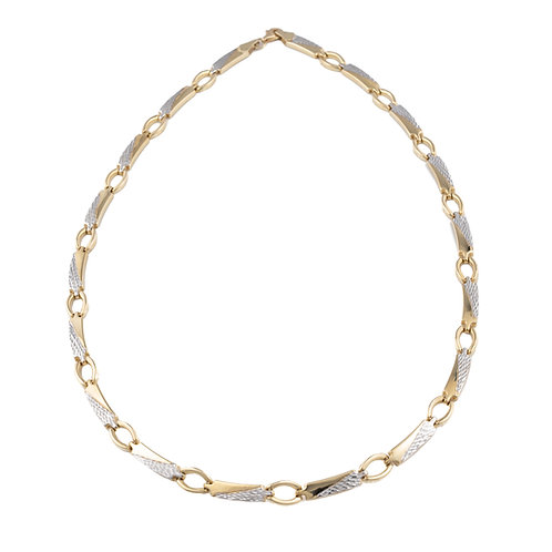 Yellow & White Gold Necklet