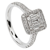 HER21 Halo Engagement Ring