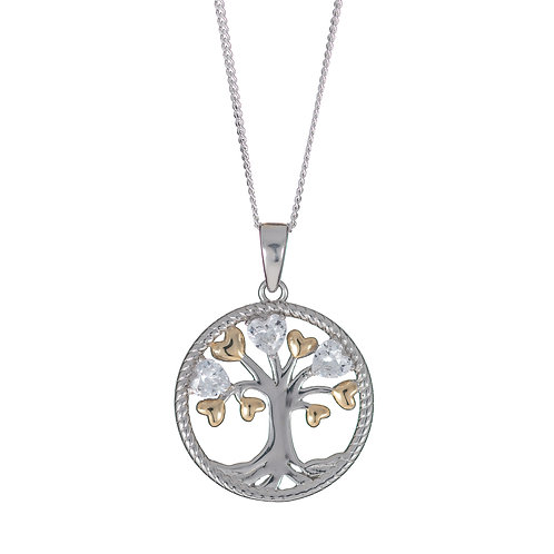 Gold & Silver Tree of Life Pendant