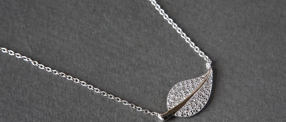 Leaf Stoneset Pendant