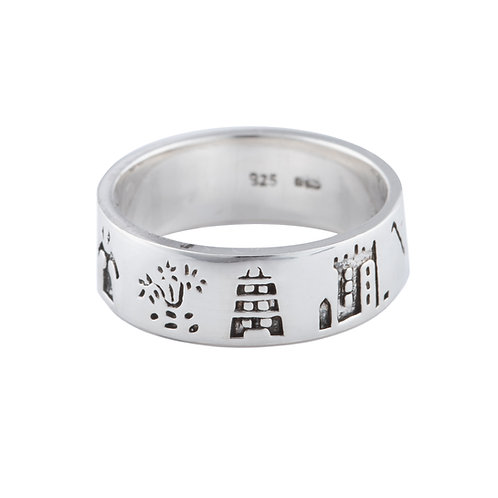 History of Cork - Silver Ring - K