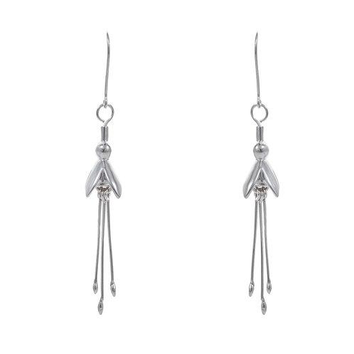 Sterling Silver Fuschia Earrings