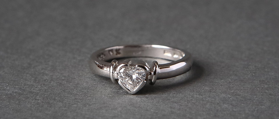 Heart Shape Engagement Ring