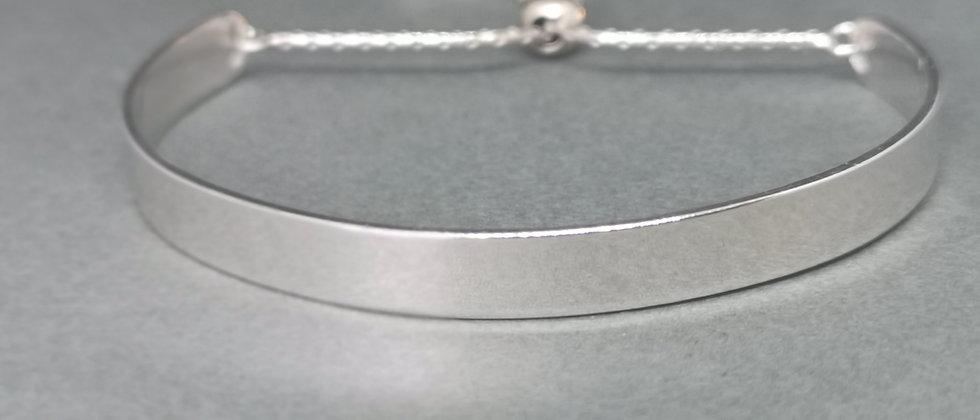 Silver flat bangle