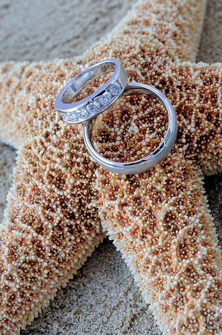 male-and-female-wedding-rings-on-starfis