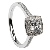 HER12 Halo Engagement Ring