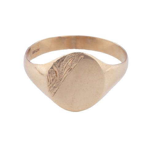 Ladies Gold Signet Ring