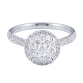HER28 Halo Engagement Ring