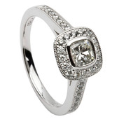 HER03 Halo Engagement Ring