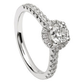 HER13 Halo Engagement Ring
